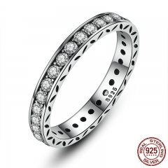 Original 100% 925 Sterling Silver Finger Ring Authentic Luxury Jewelry For Women Wedding PA7119